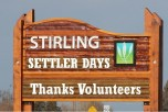 SETTLER DAYS SIGN 2015 - thanks volunteers