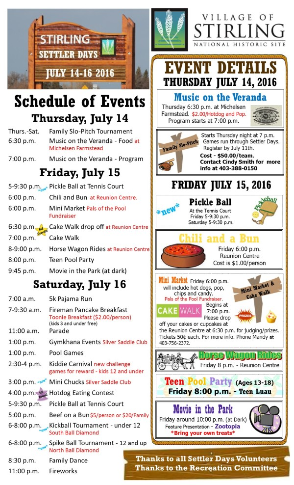 Settler Days 2016 page 1