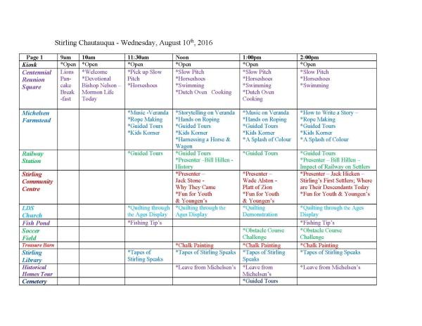 Stirling Chautauqua Schedule 2016 P1