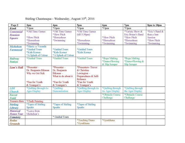 Stirling Chautauqua Schedule 2016 P2