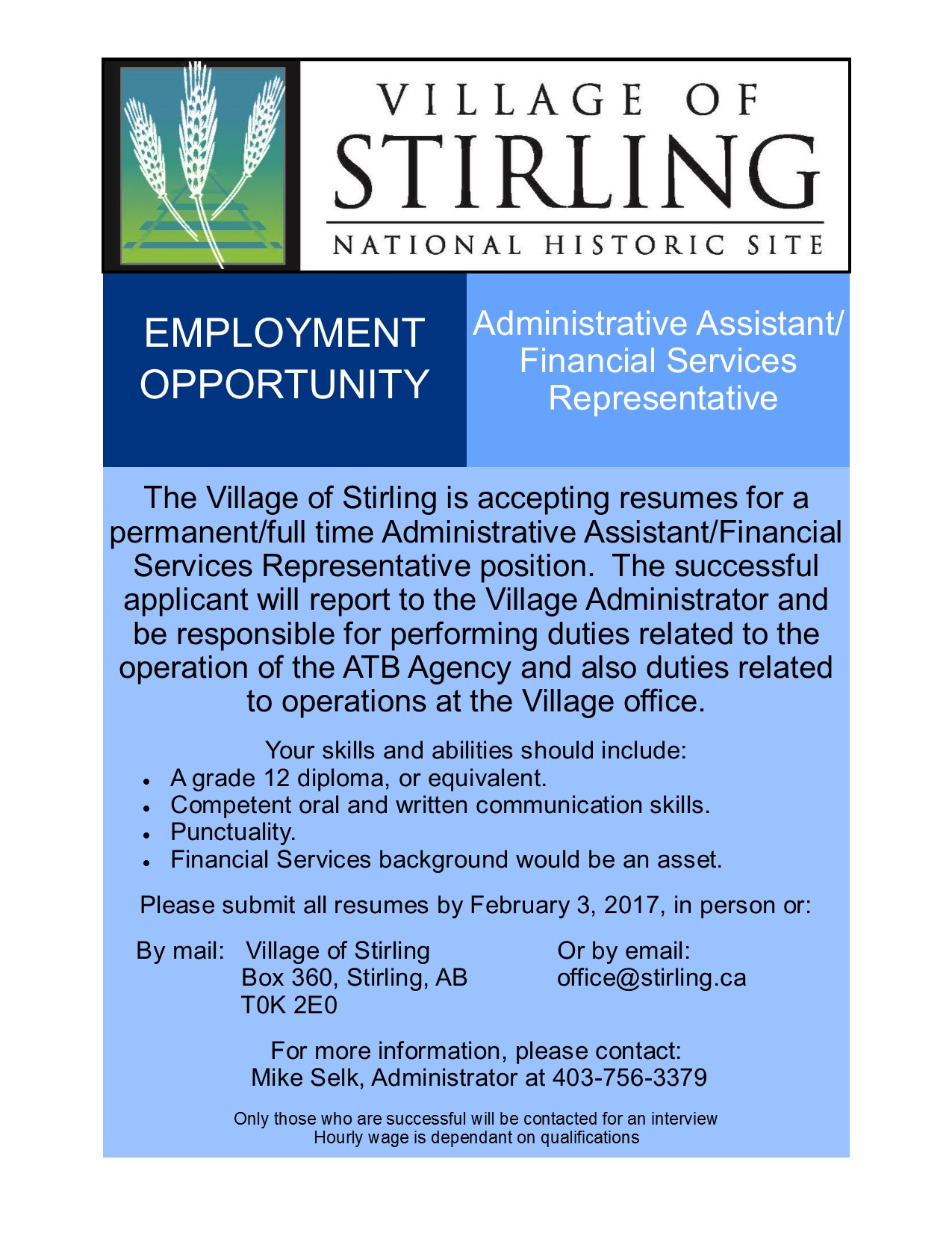 Full Time Admin Assistant Job Ad 2017  Administrative Assistant