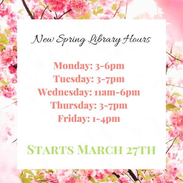 Library Spring 2017 Hours